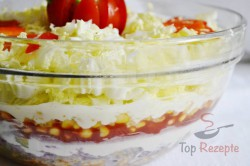 Zubereitung des Rezepts Gyros-Schichtsalat, schritt 6