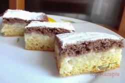 """Zubereitung des Rezepts Apfel-Pudding-kuchen """"Tag und Nacht"""", schritt 4"""