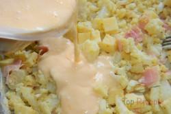 Zubereitung des Rezepts Schinken-Käse-Blumenkohl-Auflauf, schritt 2