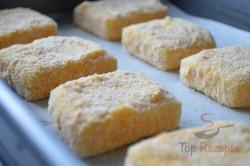 Zubereitung des Rezepts Leckerer panierter Käse aus dem Backofen – schmeckt wie frittiert!, schritt 4