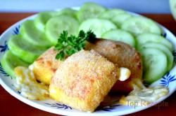 Zubereitung des Rezepts Leckerer panierter Käse aus dem Backofen – schmeckt wie frittiert!, schritt 7