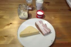 Zubereitung des Rezepts Party-Stangen aus Hefeteig und Speck, schritt 1
