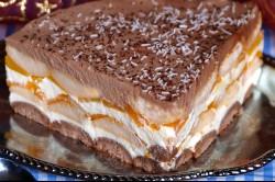 Zubereitung des Rezepts Pfirsich-Torte ohne Backen, schritt 20