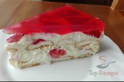 Zubereitung des Rezepts Quark-Pudding-Torte mit Erdbeeren und Tortenguss ohne Backen, schritt 2