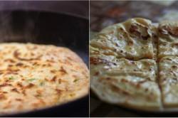 Zubereitung des Rezepts Leckere Joghurt-Puffer mit Käse gefüllt und in nur 30 Minuten zubereitet, schritt 3