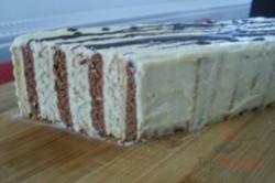 Zubereitung des Rezepts Zweifarbiger Kuchen ohne Backen, schritt 2