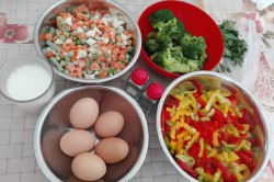 Zubereitung des Rezepts Brokkoliauflauf mit Gemüse und Ei, schritt 1