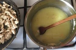 Zubereitung des Rezepts Nudelauflauf mit Hähnchenfleisch und Käsesoße, schritt 5