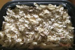 Zubereitung des Rezepts Nudelauflauf mit Hähnchenfleisch und Käsesoße, schritt 8