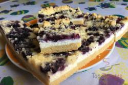Zubereitung des Rezepts Einfacher Blechkuchen mit Quark, Heidelbeeren und Streuseln, schritt 10