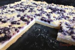 Zubereitung des Rezepts Einfacher Blechkuchen mit Quark, Heidelbeeren und Streuseln, schritt 13