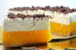 Zubereitung des Rezepts Aprikosen-Joghurt-Torte OHNE BACKEN, schritt 10