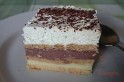 Zubereitung des Rezepts Leckerer Pudding-Sahne-Keks-Kuchen ohne Backen, schritt 11
