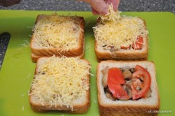 Zubereitung des Rezepts Gefüllte Sandwiches – 2 Arten, schritt 5
