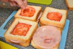 Zubereitung des Rezepts Gefüllte Sandwiches – 2 Arten, schritt 7
